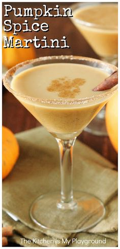 Pumpkin Spice Martini ~ Pumpkin spice is for more than just pie. Enjoy these fabulous flavors in fall cocktails, too ~ like a yummy Pumpkin Spice Martini! Super easy to make, and super delicious. #pumpkinspice #pumpkinspicemartini #fallcocktails www.thekitchenismyplayground.com Fall Cocktails, Holiday Drinks, Cocktail Drinks, Holiday Recipes, Winter Drinks, Thanksgiving Cocktails, Liquor Drinks, Fancy Drinks, Alcoholic Beverages