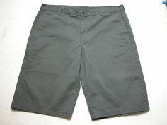 Dickies Sz 44 Gray Classic 5-Pocket Khaki Chino Style Shorts ( Measure 44x15 ) #Dickies #CasualShorts