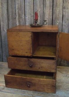 Rare-Antique-Wood-Storage-Cupboard-Cabinet-Cubby-Slots-Drawers-AAFA-NR