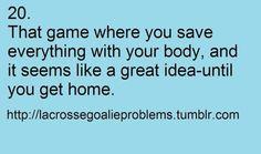 Lacrosse goalie problem...