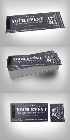 Chalkboard Event Ticket  Free Event Ticket Maker