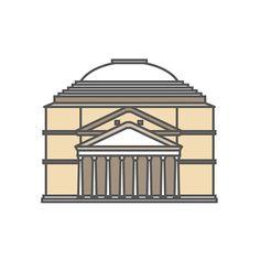 Oggi vi portiamo in uno dei luoghi più suggestivi di #Roma: il #Pantheon! Today we'll show you one of the most important place in #Rome: the Pantheon!  Hi-Storia coming soon! #Italy #flat #design #cultura #arte #art