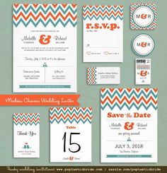 Modern Chevron Wedding Invitations   Couple Holiday Photo Cards and Ornaments