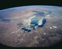 This is the Aral Sea, It is located in the country of Uzbekistan. It is a physical characteristic. It's in the city of of Aral, Kazakhstan. Some of the fish in this sea are Zander, Common Carp, and Common Bream.