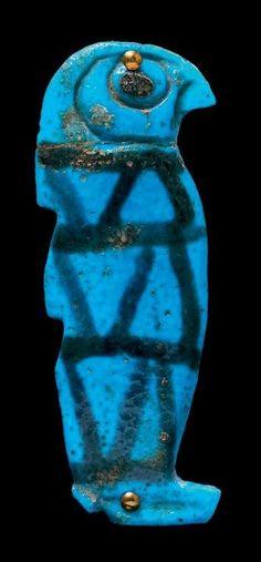 ÉGYPTE AMULETTE représentant l'un des quatre fils d'Horus, Québésénouf,