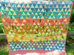Pyramid Quilt by Mary @ Molly Flanders, via Flickr
