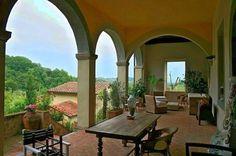 Colonnade - Lucca historic Villa Arsina for sale: https://sites.google.com/site/historicvillacappellasale/ www.lucaevillas.it