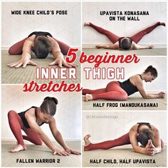Easy Yoga Workout - Inner thigh stretches for beginners Yoga Bewegungen, Yoga Pilates, Pilates Training, Yin Yoga, Yoga Flow, Vinyasa Yoga, Yoga Beginners, Yoga For Beginners Flexibility, Splits Stretches For Beginners