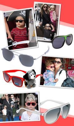 Kids need sunnies too! Check out hot celebuspawn style