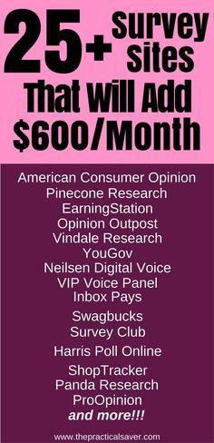 survey for money l make money fast l make money at home l make money online l earn extra money l best side hustle ideas for passive income