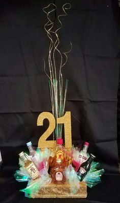 21 St Birthday Centerpiece 21st Centerpieces Themes Bday Ideas