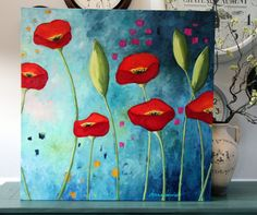 "ORIGINAL | ""Poppies Under an Azure Sky"" 