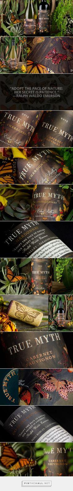 True Myth Wine - Packaging of the World - Creative Package Design Gallery - http://www.packagingoftheworld.com/2016/04/true-myth-wine.html