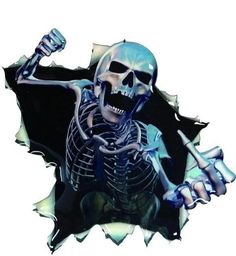 Yawlooc 2017 Car Vinyl Skull Skeleton Stickers Truck Window Wrap Decals Motorcycle Helmet Funny Sticker Car Styling Badge