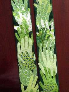 Love this idea for an ordination stole: the handprints of the people who have shaped your journey