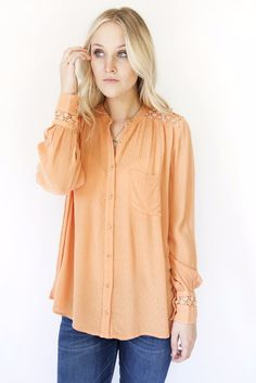 Free People The Best Blouse Peach OB495809 | Free people on sale | Discounted | women's clothing | style | Spring 2017 | fashion