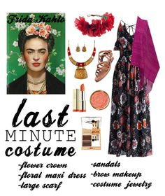 """""""Frida Kahlo Costume"""" by jjuunnee ❤ liked on Polyvore featuring Chicwish, NOVICA, Rock 'N Rose, Coconuts by Matisse and Milani"""