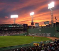 The most beautiful baseball field ever. Fenway Park.
