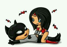 Mujer maravilla con batman