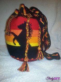 Bag Crochet Horse, Crochet Dolls, Knit Crochet, Knitting Patterns Free, Baby Knitting, Crochet Patterns, Craft Patterns, Tapestry Bag, Tapestry Crochet