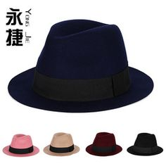Autumn And Winter Wool Hat The Female Butterfly Knot Of England Wool Jazz Flat Topped Wool Hat