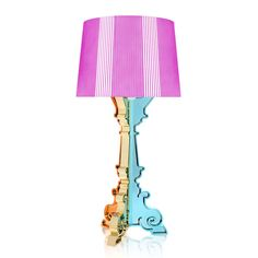 Discover the Kartell Bourgie Lamp - Fuchsia at Amara
