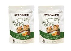 180 Snacks Low Calories Fruit Rice Bites  Coconut Cashew Crunch 3oz Pack of 2 Rice Bites with Mango  Pineapple * Click image for more details.