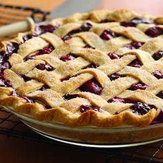 Three-Berry Pie..we had three berry pie like this in Estes Park