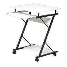 Köp - 389 kr! Mini datorbord - svart / vit. Mini datorbord är tillverkat i svart metall och vit skiva