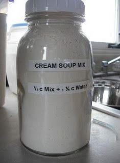 Soup Mix Cream of Soup Mix - 2 c dry milk, 2 c flour, c chicken bouillon T dried onion flakes.Cream of Soup Mix - 2 c dry milk, 2 c flour, c chicken bouillon T dried onion flakes. Homemade Dry Mixes, Homemade Spices, Homemade Seasonings, Homemade Soup, Soup Mixes, Spice Mixes, Spice Blends, Dry Soup Mix, Food Storage