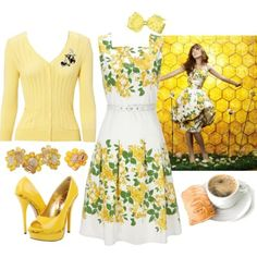 Pushing Daisies Chuck Yellow Bees Promo - I absolutely adored the original dress in this episode!