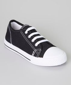 Look what I found on #zulily! Black & White Shell-Toe Sneaker by K.I.C.S. #zulilyfinds