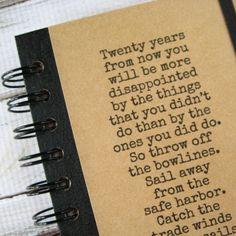 Graduation Gift Mark Twain Quote Journal Notebook Handmade by Zany 97 on Etsy, $18.00