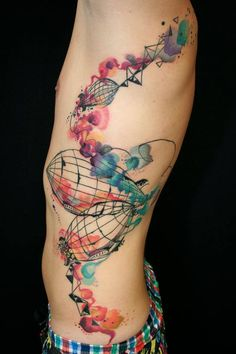 And another one, same artist.  So artistic! Stunning tattoos by Petra Hlavockova