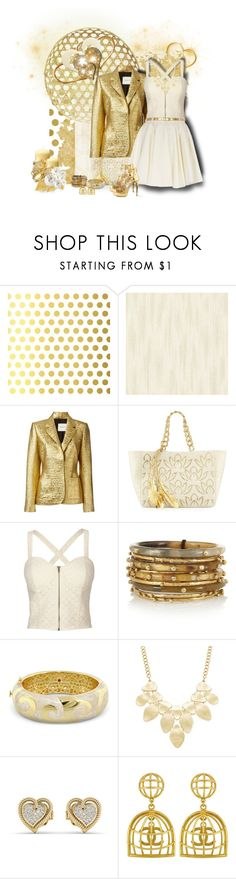 """""""Gold Contest"""" by jessy-james83 ❤ liked on Polyvore featuring Vellum, Brewster Home Fashions, Lanvin, Nancy Gonzalez, Full Tilt, River Island, Ashley Pittman, Lauren G Adams, INC International Concepts and Vintage"""