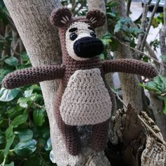 A custom order for a little fan. It was great fun adapting a pattern. DM me for orders or info Masha And The Bear, Tortoise, Photo And Video, Pattern, Fun, Toys, Videos, Photos, Instagram