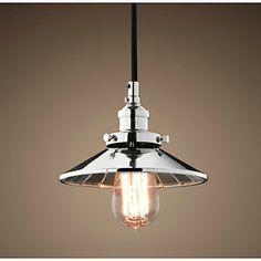 Lampe suspendue - Contemporain/Traditionnel/Classique/Rustique/Vintage/Rétro/Plafonnier pour Ilôt de Cuisine/Saladier Métal – CAD $ 129.26