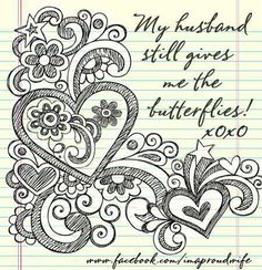 Love for husband. I love and adore mine. I really do...still get 'butterflies'.