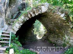 "Castle Rocks alias ""Bišík"" entrance arch .czech republic"