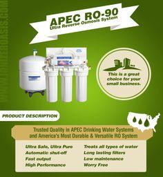 APEC RO-90 Ultra Reverse Osmosis System http://www.ionizeroasis.com/apec-ro-90-ultra-reverse-osmosis-system.html