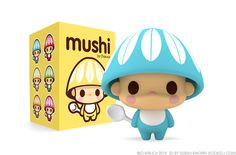 Mushi Toy Design by Charuca Vargas, via Behance (I am so in love with this!)