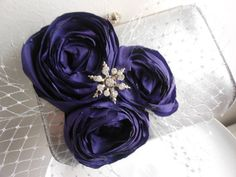 Grape floral and silver clutch spring wedding by 2007musarra, $52.99