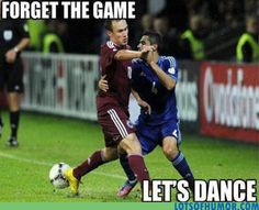 Let's play soccer! No! We must dance!