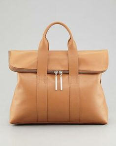 3.1 Phillip Lim 31-Hour Fold-Over Tote Bag, Nude - Neiman Marcus