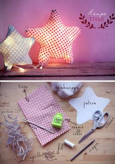mommo design: 9 DIY IDEAS FOR KIDS ROOM - fabric lamp