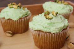 Pistachio Cupcakes!  Love Pistachio!