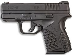 Springfield XDs in 9mm, same exact dimensions as the .45 ACP version. Sweet carry gun!