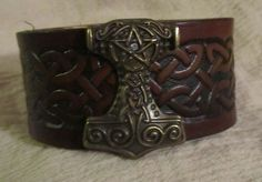 Leather Bracelet Celtic Bracelet Thors by EarthlyLeatherDesign, $22.99