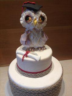 Graduation Cake  Owl cake Torta Laurea  Torta Gufo