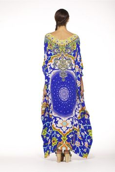 One Camilla Kaftan to pull in at the waist for a stunning comfortable dress. Wear halter neck bathers underneath for extra sass n comfort. Enjoy the compliments!;)